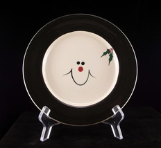 "Mill Creek Stoneware holidy snowman plate 8"" iv... - $8.00"