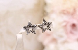 Authentic Christian Dior Star Crystal J'ADIOR Dangle Drop EARRINGS  image 4