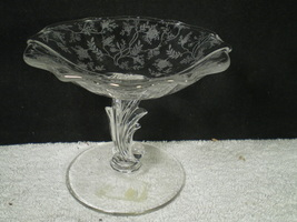 Fostoria Chintz Footed Compote~~~htf~~~check it out~~~ - $24.95