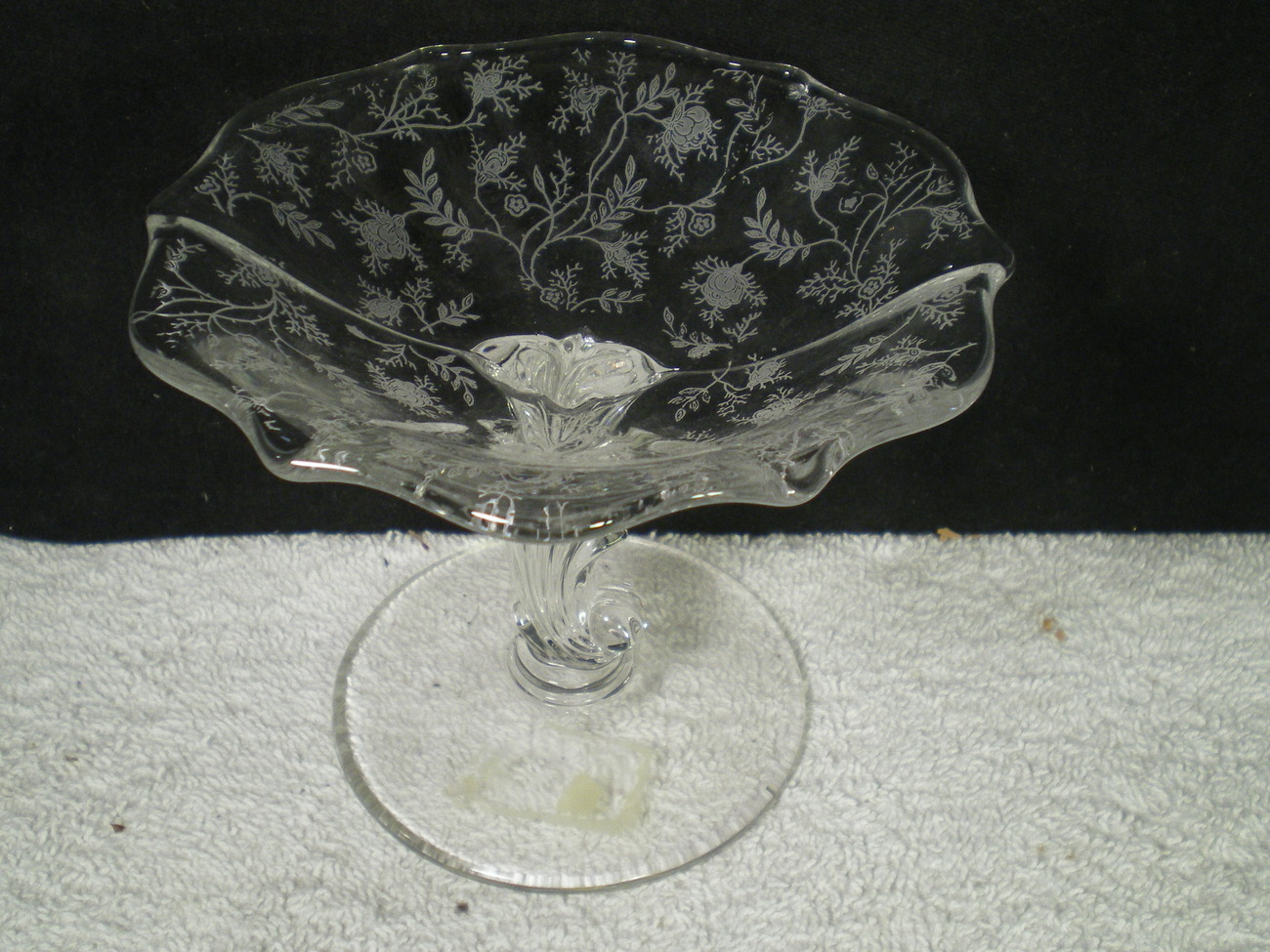 Fostoria Chintz Footed Compote~~~htf~~~check it out~~~
