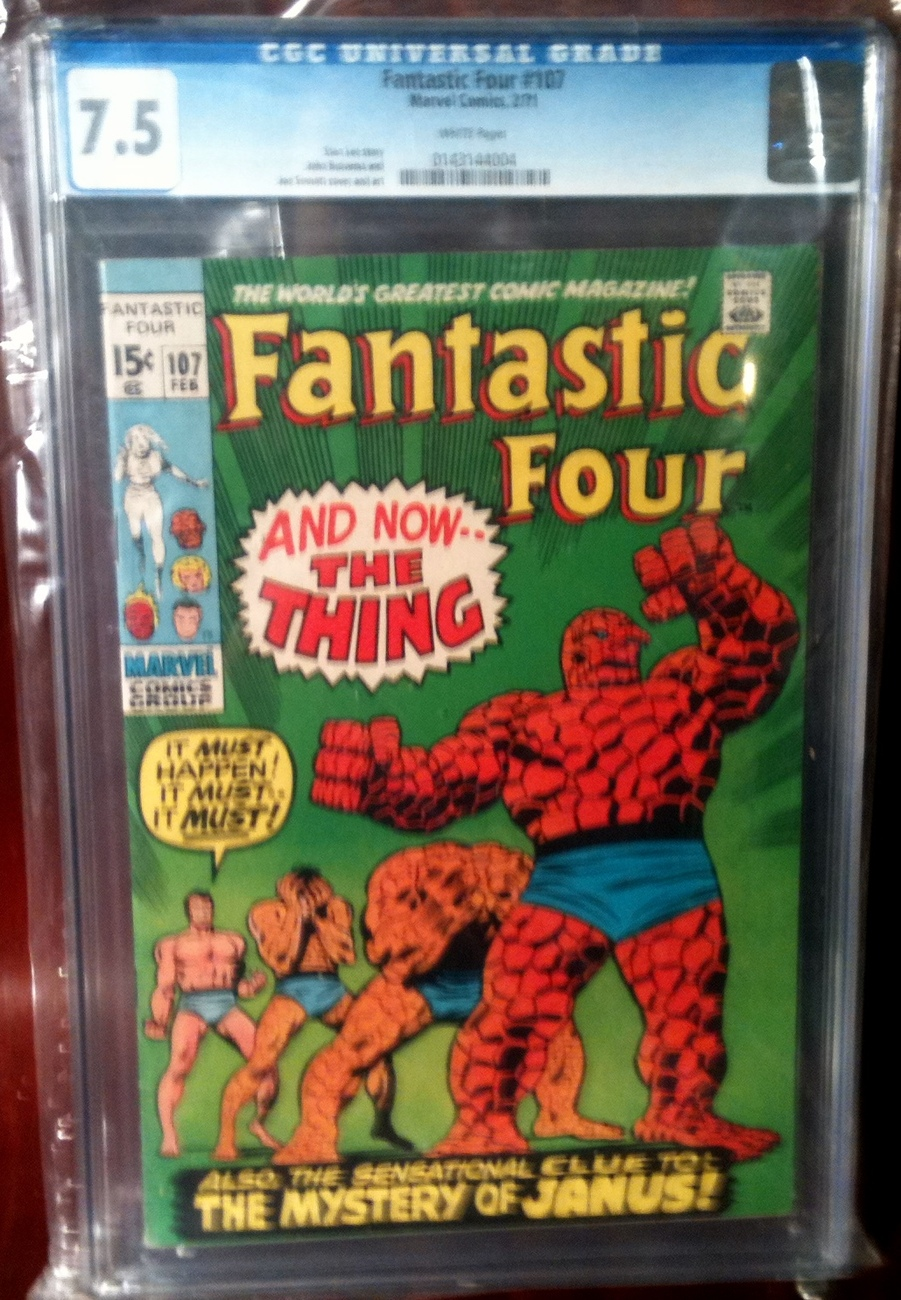 Fantastic Four (1961) # 107 CGC Graded 7.5 VF-
