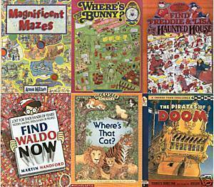 (5)Magnificent MAZES;PIRATES OF DOOM;WHERE'S THE CAT?Where's the BUNNY?Lisa/Fred