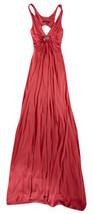"ROBERTO CAVALLI CORAL JERSEY ""SNAKE CHARM"" RUCHED LONG DRESS - IT 42 / US 6 - $287.64 CAD"
