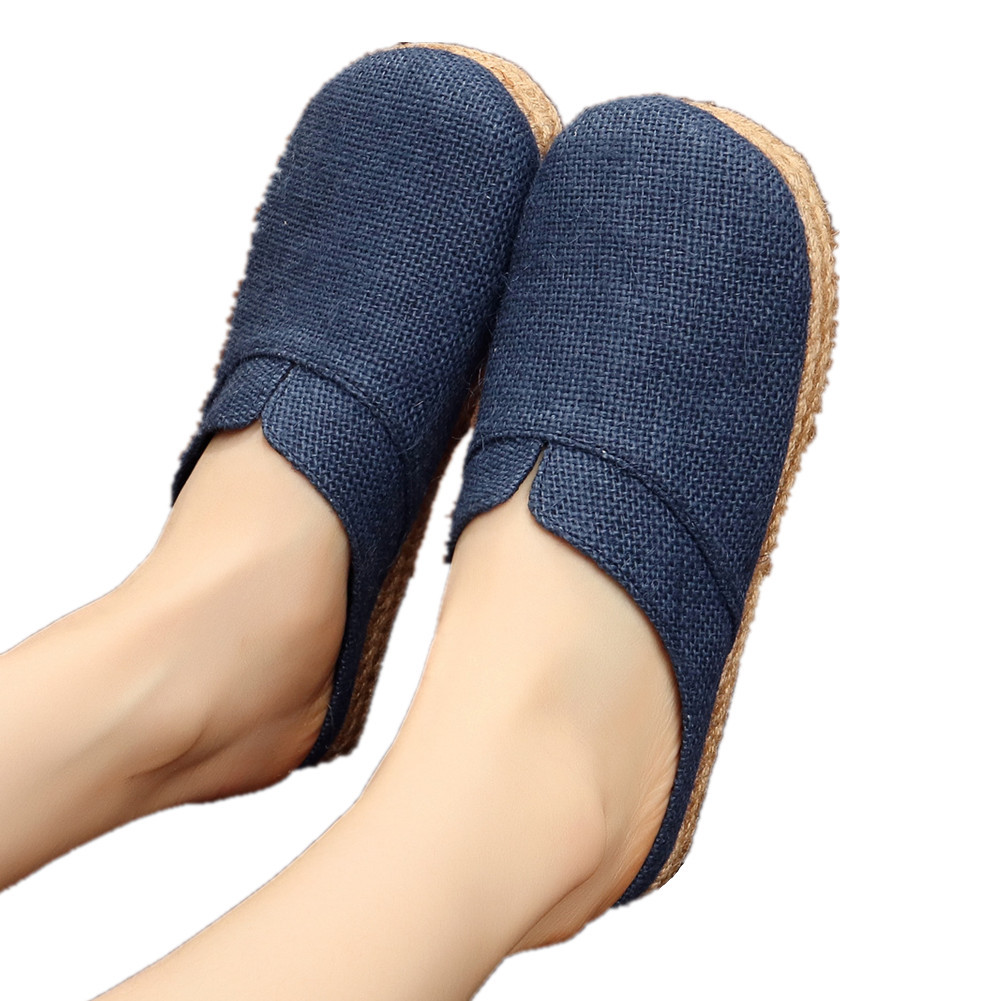 Primary image for Chinese Cotton and linen national wind Embroidy Shoes embroidered Slippers blue