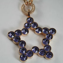 ROSE BRONZE REBECCA NECKLACE BIG STAR WITH PURPLE CRYSTAL CT 20.00 MADE IN ITALY image 4