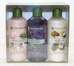 Yves Rocher Relaxing Gift Box Set 3 Bath & Shower Gel 13.5oz  Magnolia,Lavandin - $48.51