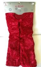 """Red Velvet Plush Poinsettia 48"""" Holiday Christmas Tree Skirt Stand Cover... - $14.00"""