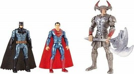DC Justice League Battle 3 Pack Batman, Steppenwolf, & Superman Action F... - $54.40