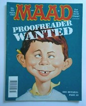 MAD Magazine Proofreader Cover March 1997 No 355 Spin City TV Show Parody Satire - $17.77