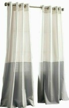 DKNY Color Band 108-Inch Grommet Top Window Curtain Panel in Grey - $21.77