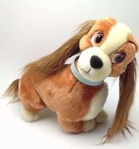"Walt Disney Lady Tramp Plush 12"" World Disneyland tag Stuffed Animal Korea - $13.86"