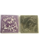Two Vintage Warner Prins Ceramic Pottery Tiles, Signed - $23.65