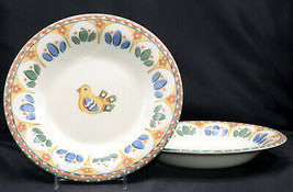 """Franciscan Benedict Sierra * 2 PASTA / SOUP BOWLS * 10 1/4"""", Unused/Tags - $69.99"""
