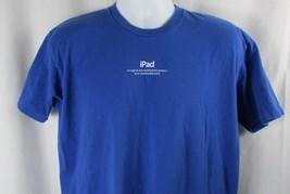 Apple employee XL t shirt Apple student Mac ipod blue Genius Men women unisex  - $6.92