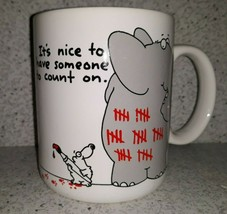 Hallmark Shoebox Greetings Elephant & Mouse Coffee Mug Someone To Count ... - $14.50