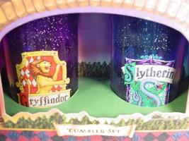 HARRY POTTER drink cups Hogwarts Gryffindor Slitherine Tumblers Plastic - $53.93