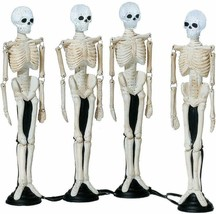 Department 56 NEW IN BOX Halloween Skull Street Lamps (Set of 4) - $39.59