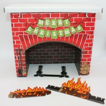 American Girl Julie Albright Christmas Cardboard Faux Fireplace Only - $49.99