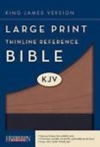 Bible kjv large print thinline reference imitation leather   large type thumb200