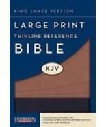 "BIBLE-KJV ""LARGE PRINT"" THINLINE REFERENCE - IMITATION LEATHER - LARGE TYPE - $17.99"