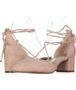 Kenneth Cole New York Toniann Lace Up Round Toe Kitten Heels 198, Rose, ... - $26.87
