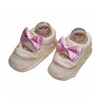 [Light Orange] 2 Pairs Bowknot Pattern Baby Girls Socks Comfortable Socks [B]