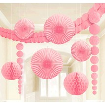 Classy Damask Party Decorating Kit, New Pink, Paper, (Pack of 9) Wedding - $15.19