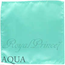 New Men's Aqua Mint Micro Fiber Solid Handkerchief Pocket Square Hanky W... - $4.78