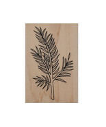 A Muse Art stamps Evergreen Branch Wood Mounted Rubber Stamp #2-4153J - $3.99