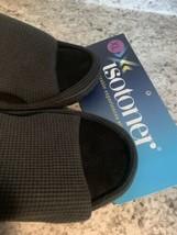 Isotoner Memory Foam Slide Black Waffle Slippers Xl 9.5-10--$24 Retail - $21.73