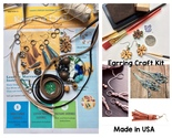Earring Craft Kit, DIY Leather Tassels Macrame Crafts for Adult Teen Made In USA