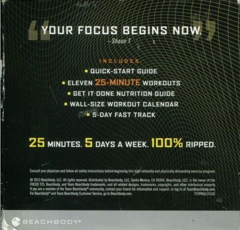 Beachbody Focus T25 Get It Done 9 DVD Set Alpha + Beta Workout Exercise (Compreh image 2