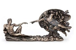 "10.5"" Genesis The Creation of Adam Statue God and Man Sculpture - $49.50"