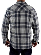 NEW NWT LEVI'S MEN'S LONG SLEEVE BUTTON UP CASUAL DRESS SHIRT GRAY 3LYLW0042 image 2