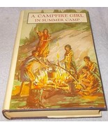 A Campfire Girl in Summer Camp Book HC DJ 1914 Jane Stewart Series 3 Vol 3 - $7.95