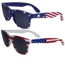 2 Pairs Bulk American Sunglasses USA Flag Classic Patriot - $27.00
