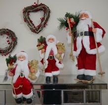 Weihnachtsmann Weihnachten stehend sitzen Dekor Ornament Figur 3 Größen - $39.80+