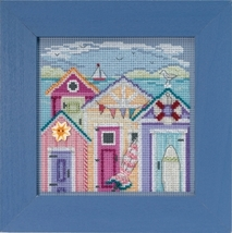 Cabana Beach 2018 Spring Series Buttons and Beads cross stitch kit Mill Hill  - $13.50