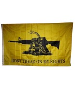 3x5 Gadsden Don't Tread On My Rights NRA M4 Rifle Machine Gun Flag 3'x5' - £6.49 GBP
