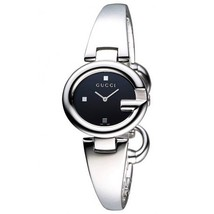 Gucci YA134501 Black Dial Stainless Steel Strap Ladies Watch - $490.99