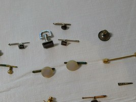 Vintage LOT of Men's tie tacs tacks Swank B & W cuff links tac collar ba... - $38.24