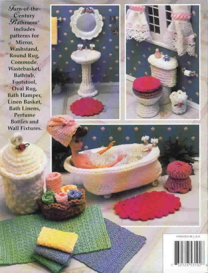 Annie's Attic Turn Of The Century Bathroom Fashion Doll Home Decor