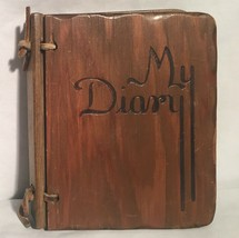 Vintage Small FIVE YEAR DIARY 5 Wooden Cover 1942 1958 Princeville Illin... - $14.84