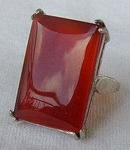 RC red agate silver ring - $30.00