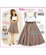 Elegant Jacquard Plaid Dress -Brown - $8.00