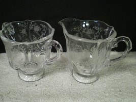 Fostoria Chintz Individual Cream & Sugar~~~htf~~~check it ou - $24.95