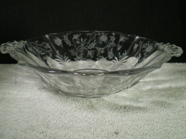 "Fostoria Chintz 9"" Round Handled Vegi Bowl~~~htf~~~check it  - $29.95"