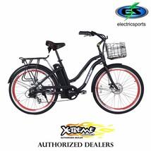 "Malibu Elite Electric Beach Cruiser Bicycle 300W 24V 26"" x 2.25 Kenda® 7... - $949.00"