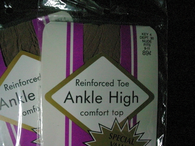 4 Pr Vintage Ankle High comfort top Nylons Nude fits 9-11