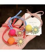 Hair Band Ties Rope Ring Elastic Women Flower Colorful Simple Girls Kids... - $4.20